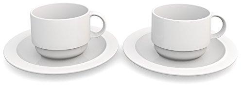 Ornamin 501/502 2 Kaffeetassen 150 ml mit Untertassen
