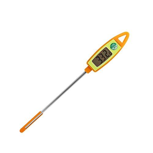 GuDoQi Elektronisches Digital Thermometer Wasser Milch Fleisch Lebensmittel Probe Thermometer Küche Kochen Grillen Orange