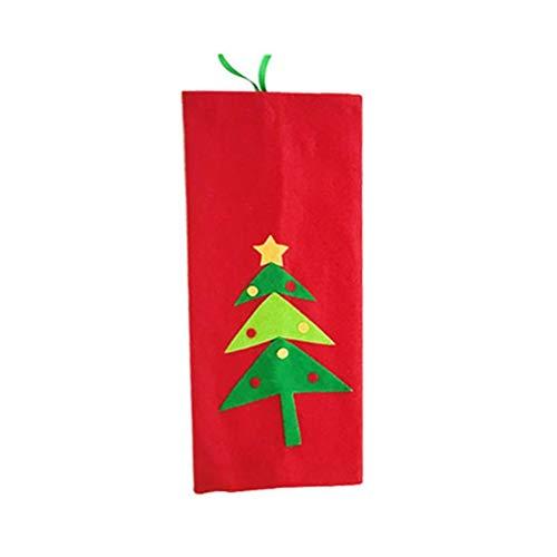Decora tu botella de vino con la funda de bolsa Christmasthemed y refuerza el ambiente navideño. La apariencia linda con colores brillantes definitivamente permitirá que sea una bonita decoración en la mesa de la cena en la víspera de Navidad. Per...
