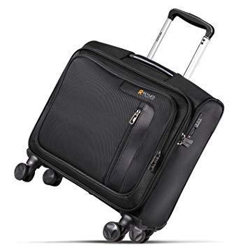 REYLEO Sacoche à roulettes pour Ordinateur Portable, Valise d'affaires Bagage avec Authentification du Code QR Serrure TSA 4 roulettes Doubles 360° pour PC 14 Pouces - LRB1A