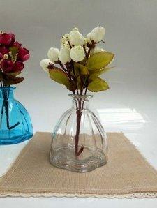 Stockage de bureau Box5-pack Couleur antique pétales de vases en verre Petite bouteille transparente Aromarapy,