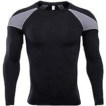 Internet—Ropa Deportiva Ajustada para Hombres, Costura de Color sólido, Secado rápido,