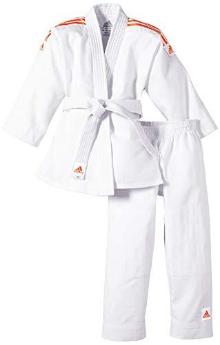 adidas Tuta Judo Evolution bambini (incl. Cintura), Bianco (Brilliant white), 120 - 130 cm