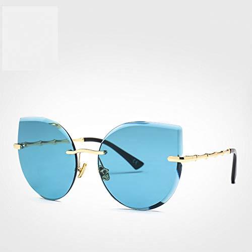 Rahmenlose Sonnenbrillendame des weiblichen Sonnenbrillekatzenauge-Glasmädchens Rosas