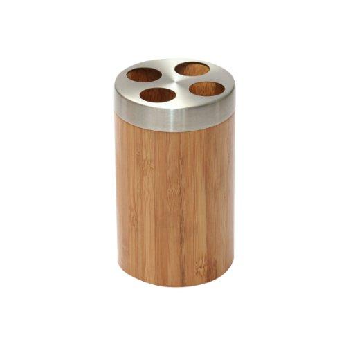 Axentia Zahnbürstenhalter aus Bambus