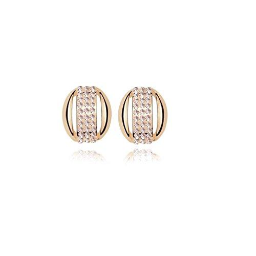 Erica Petites boucles d'oreilles en mousseux mousseux autrichienne boucles d'oreilles en cristal pour les femmes light peach