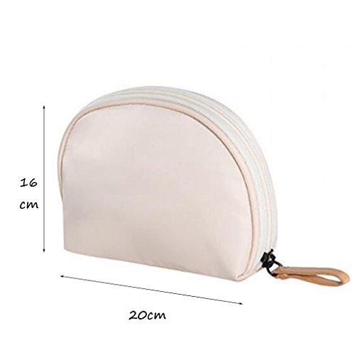 CLOTHES- Piccolo sacchetto cosmetico portatile sacchetto cosmetico portatile sacchetto cosmetico portatile sacchetto di lavaggio sacchetto di stoccaggio ( Colore : Blu ) Bianca