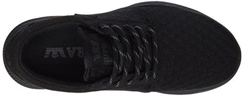Supra Hammer Run Unisex-Erwachsene Low-Top Schwarz (BLACK - BLACK BBB)