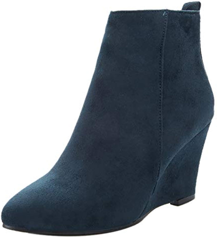 e27cee112b1 Coolcept Women Wedge Heel Dress Boots Zipper B07G8D1V7M B07G8D1V7M  B07G8D1V7M Parent 57a31b