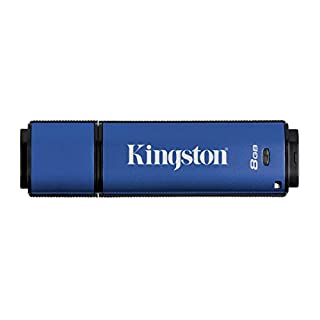 Kingston Data Traveler Vault Privacy USB 3.0 Flash drive, 8 GB DTVP30, 256 Bit AES Encrypted FIPS 197
