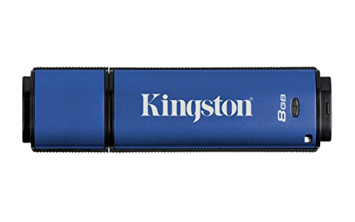 Privacy Drive Usb (Kingston DTVP30 8GB Speicherstick USB 3.0 (256-Bit: Hardwareschlüsselung) blau)