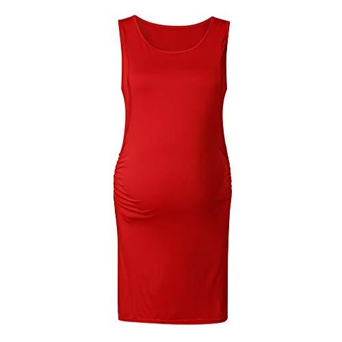 Damen Umstandskleidung Sommer,Malloom Frauen Mutterschaft Krankenpflege Rundhals Ärmelloses ()
