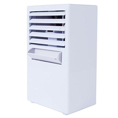 ❤️ Ventilateurs de table,Climatiseur portatif ventilateur mini évaporateur à air climatisé refroidisseur ventilateurs by LHWY (blanc)