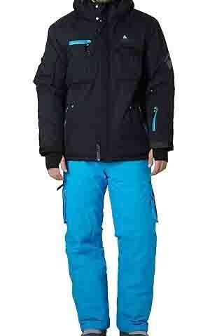 Peak Mountain Herren Skianzug Cardiden Schwarz / Blau S