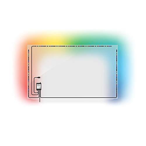 TronicXL USB TV-Stimmungslicht LED für Fernseher Stripe Stripes Hintergrundbeleuchtung bunt RGB mit Fernbedienung selbstklebend indirekte Beleuchtung Hintergrundleuchte mit Fernbedienung