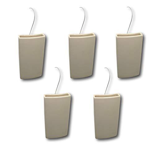 Best-Accessoires4All Keramik Luftbefeuchter Wasserverdunster für Heizung Heizkörper Verdunster Flachverdunster Weiss (Menge: 5)