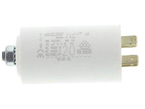 ICAR Starterkondensator 20µF, Ø:40mm, Lä: 71mm Anlaufkondensator Betriebskondensator Motorkondensator
