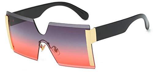 Sonnenbrillen. Frauen Übergroße Brille Halb Randlose Quadratische Sonnenbrille Designer Große Weibliche Sonnenbrille Outdoor Reisen Sommer Staub Uv400 Grau Rosa