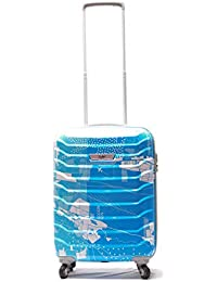 VIP SKYBAGS Troopers Teal Blue High Grains Polycarbonate 4W 2019 HARDSIDED Luggage (Small 55 cm)