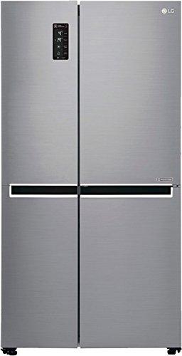 LG 687 L Frost-Free Side-by-Side Refrigerator (GC-B247SLUV, platinum silver,Inverter Compressor)