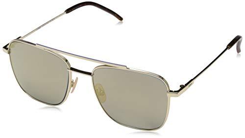 Fendi Herren FF M0008/S JO 3YG 55 Sonnenbrille, Light Gold Grey