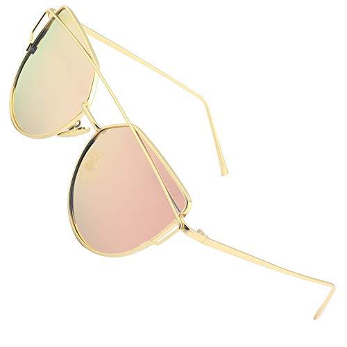 CGID MJ74 Occhiali da Sole Donna Moderni Fashion a Specchio Occhio di Gatto Lenti Polarizzate UV400
