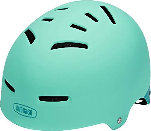 Nutcase - Zone, Casco de Bicicleta para Adolescentes y Adultos, Aqua Matte, Mediano
