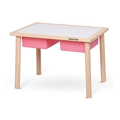 Enfant des Gamins Table Tabouret Ensemble des Gamins 2 en 1 Plastique Stockage Boîte, Compatibles Activité Carré, Primaire Couleurs CJC (Couleur : Table B)