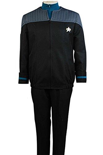 Fuman Star Trek Nemesis Medical Science Teal Uniform Cosplay Kostüm (Star Kostüme Voyager Trek)