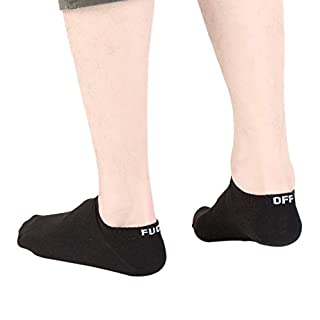 XIYAO Fuck Off Socks Funny Ankle SocksCasual Skateboard Socks Letter Print Casual Socks