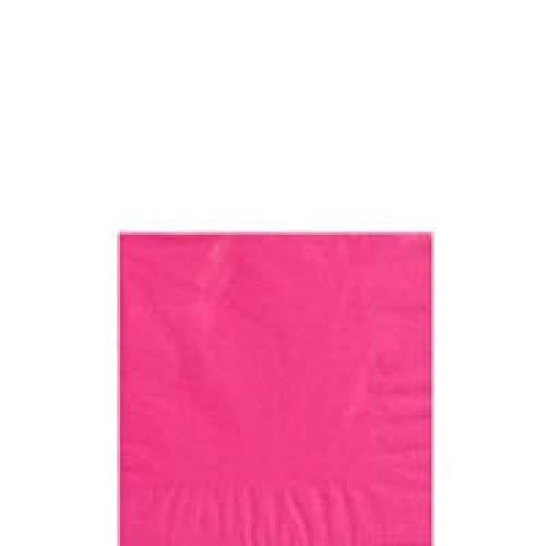 Amscan Getränke-Servietten, 23cm, 2-lagig, Pink