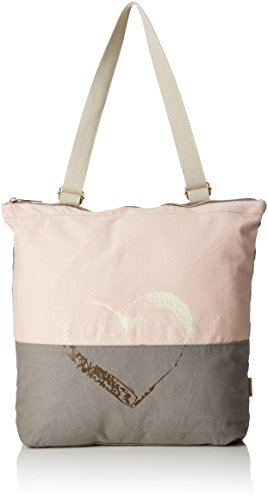 Adelheid Damen Herzallerliebst Groß Rucksacktasche Rucksackhandtasche, Pink (Pink (Altrosa)), 10 x 43 x 38 cm