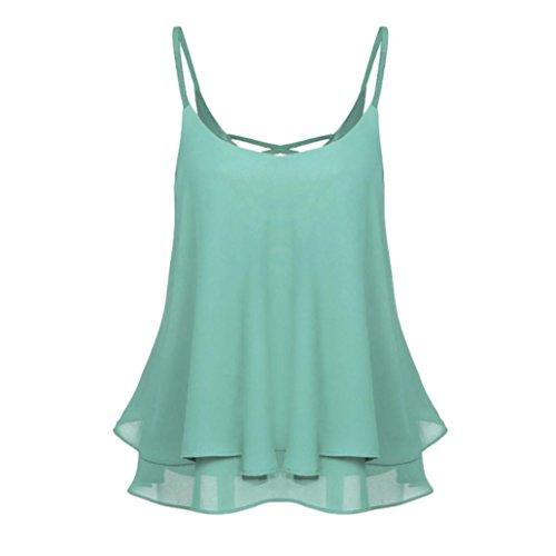 Chiffon Weste Frauen Damen Ärmellose Tunika Kreuzband Sommer Shirt Bluse Casual Tops GreatestPAK
