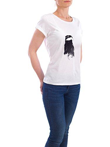 "Design T-Shirt Frauen Earth Positive ""An Other Moustache"" - stylisches Shirt Tiere von Tobe Fonseca Weiß"