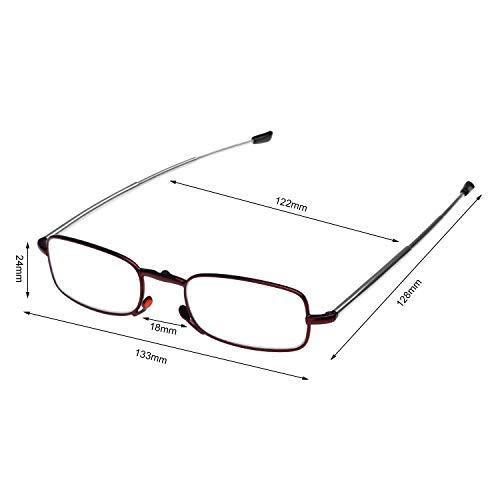 Yutongyi Leicht Lesebrillen Vintage Lesehilfe Rahmen Computer Lesebrille Augenoptik für Damen Herren Innenlesung (Size : 2.5)