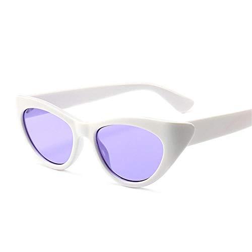 CCTYJ Sonnenbrillen Kleine cat Eye Damen Sonnenbrille Mode Damen cat Eye Sonnenbrille Damen Retro Sonnenbrille Brillen-weiß