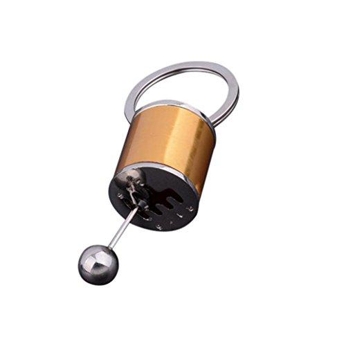 Gear Shift Gear Stick Gear Box Metall Schlüsselanhänger Keyfob Leicht Abziehbar Schlüsselanhänger (Gold) (Autos Party Favor Boxen)