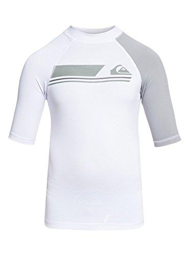 Quiksilver Active - Short Sleeve UPF 50 Rash Vest - Jungen (Weiß Rash Vest)