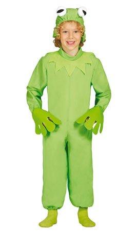 Frosch - Kostüm für Kinder Gr. 98 - 134, Größe:128/134 (Tier Kostüm Muppet)