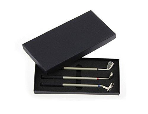 LL-Golf  Golf Stifte Geschenkset/Golfschläger Kugelschreiber in schwarzer Geschenkbox/Golfgeschenk