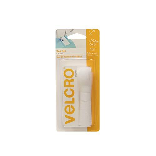 Klettverschluss Marke-Sew auf gurthalteband-3/10,2cm breitem Klebeband, weiß, 76.20 cm -