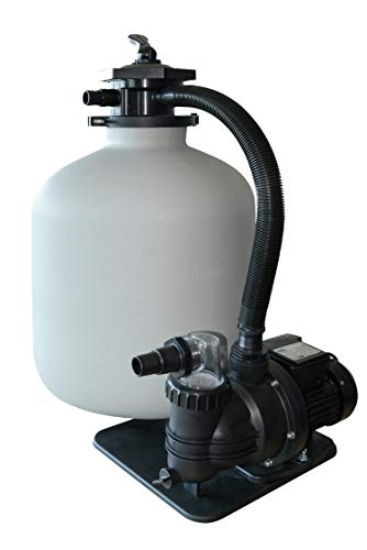 AquaForte Sandfilterset SQ460-Super für 60m³ Schwimmbad, Pumpe 10m³/h, 550W