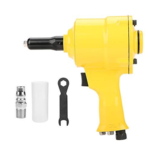 Akozon Remachadora neumática, accionada por aire con pistola de remache de pistola KP-705P 2.4-4.8mm