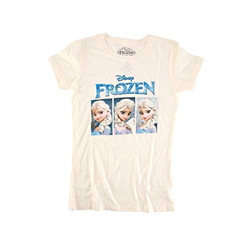 Disney Frozen Elsa Expressions Junioren Creme weiß T-Shirt | XL -
