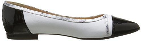 Geox D Rhosyn B, Ballerines femme Blanc (C1351)