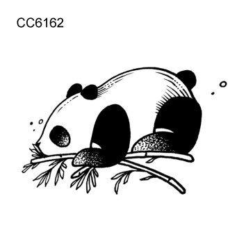 BRT 6x6cm Kleine Retro Einfachen Stil Niedlich Schwarz Und Weiß Panda Dinosaurier Wolf Tier Temporäre Tattoo Aufkleber Körperkunst (2 Pack) CC6162
