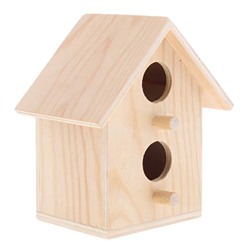 Homyl Casa Registro Cabaña Productos Aves Jaula de Loros Caja Cedro Caseta de Pájaros - Estilo 1