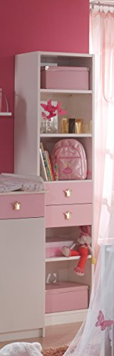 Dreams4Home Babyzimmer 'Princess XL', Babyzimmerkombination, Babyzimmer komplett, Babybett, Wickelkommode, rosa, Bettseiten - 4