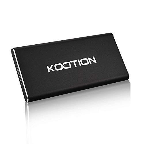 KOOTION Extreme Portable SSD 120GB USB 3.0, Lesegeschwindigkeit bis zu 400 MB/s, Externe SSD Ultra-Slim Solid State Drive für PC, Desktop, Laptop, Mac