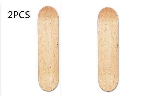 PITCHBLA 8inch DIY Skateboard Decks, 8-Layer Maple Blank Double Concave Skateboards Natural Skate Deck Board Skateboards Deck Wood Maple Skateboarding Skateboard Parts